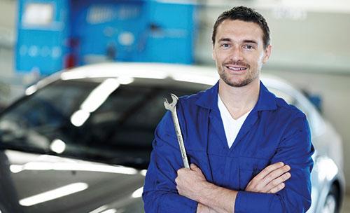 Bild mit einem Automechaniker